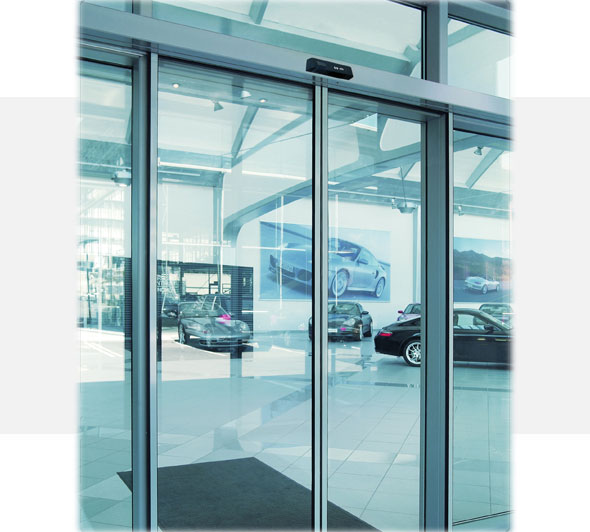 Automatic-glass-door