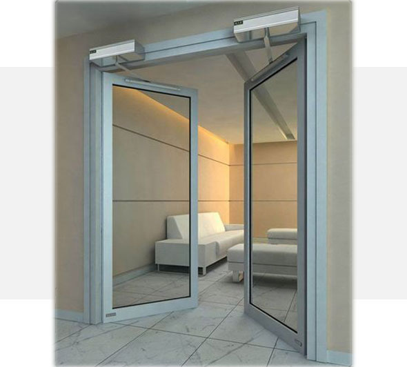 Automatic-hinged-glass-door